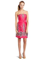 Dresses to Wear to a Wedding - LBD Laundry by Design Womens Border Print Strapless Dress
