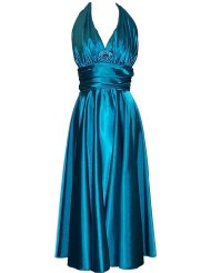 Marilyn Satin Halter Dress