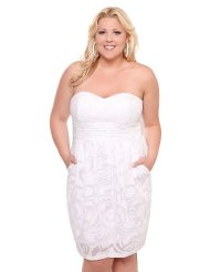 Torrid Plus Size White Burnout Pocket Tube Dress