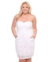 Torrid Plus Size White Burnout Pocket Tube Dress