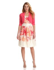 Dresses to Wear to a Wedding - Jessica Howard Women's Scoop Neck Dress With Sweater