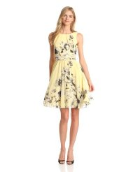 Dresses to Wear to a Wedding - Eliza J Women's Sleeveless Fit and Flare Printed Dress