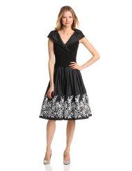 Dresses to Wear to a Wedding - Jessica Howard Women's Sleeveless Portrait Collar Surplus Bodice Dress