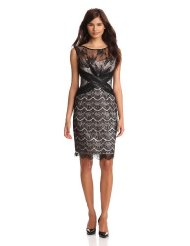 Dresses to Wear to a Wedding - Jax Women's Allover Lace And Mesh Dress