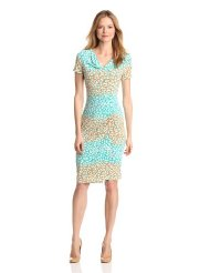 Dresses to Wear to a Wedding - Jones New York Women's Cowl Neck Print Dress