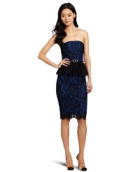Dresses to Wear to a Wedding - Robert Rodriguez Women's Strapless Lace Peplum Dress