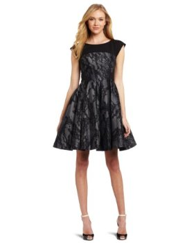 Dresses to Wear to a Wedding - French Connection Women's Milly Lace Fit and Flare Dress