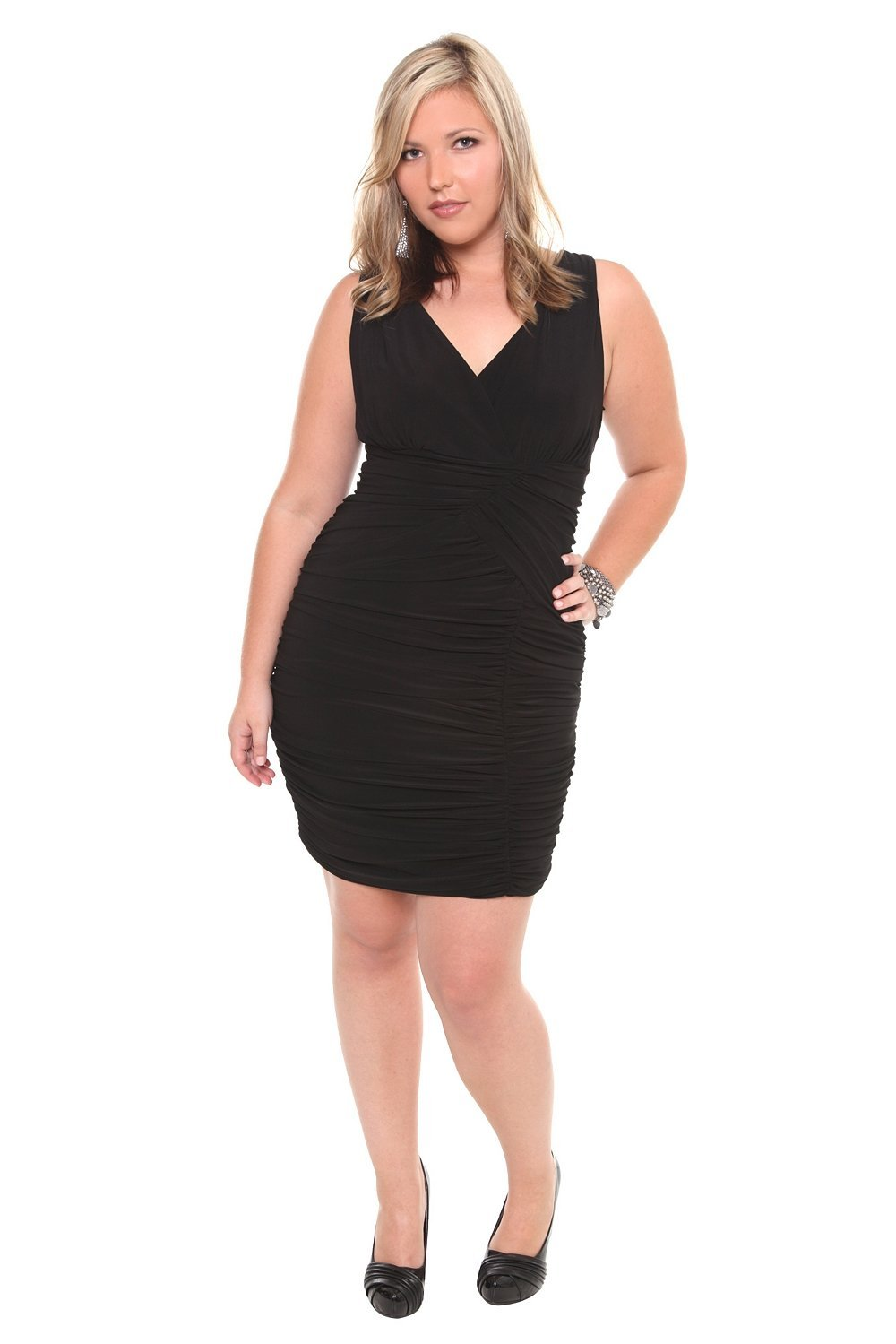 Torrid Plus Size Black Tank Ruched Dress