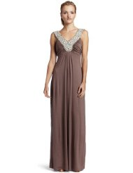 Bordeaux Pearl Women's Maxi Dress