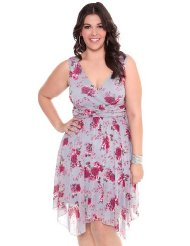 Torrid Plus Size Mesh Floral Dress