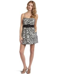 Zebra Dresses to Wear to a Wedding - Jessica Simpson  Women's Strapless Zebra Romper