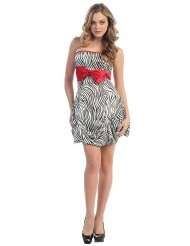 Zebra Dresses to Wear to a Wedding - Prom Dress Junior Short Designer Zebra Print Gown