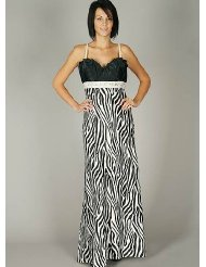 Zebra Dresses to Wear to a Wedding - Satin Zebra Print Jewel Formal Dress for Bridesmaid Formal Prom