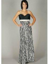 Zebra Dresses to Wear to a Wedding - Satin Zebra Print Jewel Formal Dress for Bridesmaid Formal Prom
