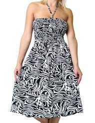 Zebra Dresses to Wear to a Wedding - Alki'i Women's One-size-fits-all Tube Dress/Coverup with Animal Print (Zebra/Leopard/Cheetah/Giraffe)