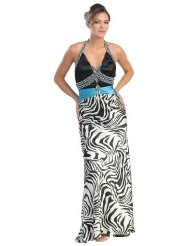 Zebra Dresses to Wear to a Wedding - Ball Gown Elegant Prom Zebra Print Dress