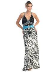 Zebra Dresses to Wear to a Wedding - Ball Gown Elegant Prom Zebra Print Dress