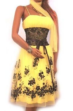 Yellow Lace Cocktail Dress to Wear to a Wedding