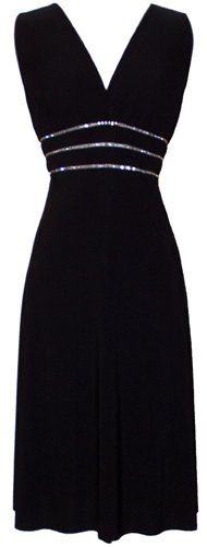 Sexy Little Black Cocktail Dress Crystals JR Plus Size to Wear to a Wedding