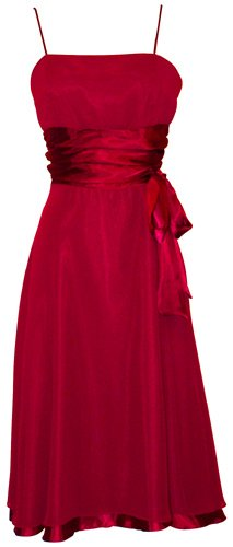 Dresses to Wear to a Wedding - Chiffon Satin Dress Prom Formal Bridesmaid Holiday Party Cocktail